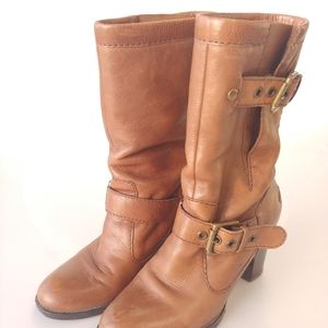 Nine West calf height buckle boots